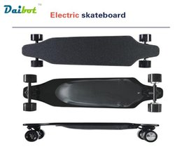 Wholesale 36v Motor Scooter - 2017 New Wireless Bluetooth Control 4 Wheel Electric Skateboard Scooter Hoverboard Longboard Replaceable Dual Hub Motors 30 KM H
