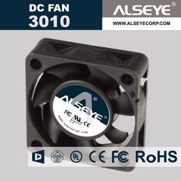 Wholesale Fans Parts - Wholesale- ALSEYE 3010 (5piece lot) 30 x 30 x 10mm DC 12v Fan for computer 0.32A 10000RPM Sleeve Bearing Electrical repair parts