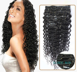 "Wholesale Natural Hair Blonde Curly - ELIBESSWholesale -14""- 26""8pcs indian remy Hair deep curly wave clip-in hair remy hair extensions , 1# 1B# 2# 4# 6# 27# 99J# 613# ,120g set,"