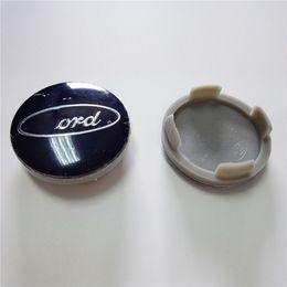 2019 article plastique Capuchons de moyeu de centre de roue en plastique ABS chromé pour enjoliveurs de roue de voiture Ford 54mm promotion article plastique