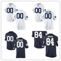 Wholesale Footballs Johnson - Mens Penn State Nittany Lions College Football #29 John Reid 48 Shareef Miller 84 Juwan Johnson 88 Mike Gesicki White Navy Stitched Jersey