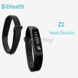 Wholesale Wrist Massage - BitHealth Z2 Brand Smart Wristband Bluetooth 4.0 Activity Tracking Sleep Tracking Call Alert Massage Alarm Health Smart Bracelet Smart Watch