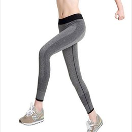 Wholesale Wine Leggings - Wholesale-Women Running Pants Compression Long Tights Sports Mallas Mujer Fitness Running Clothes For Women Sport Leggings Sweatpant