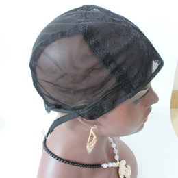 Wholesale S Wigs - 5PCS Lot Wig cap for making wigs with adjustable strap on the back weaving cap size S M L glueless wig caps good quality free shipping
