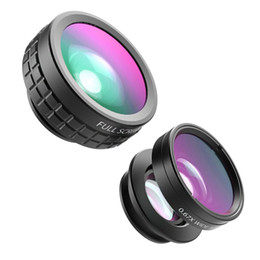 Wholesale Cell Phone Fisheye - Wholesale-Original AUKEY 3 in 1 Clip-on Cell Phone Camera Lens Kit 180 Degree Fisheye Wide Angle Lens 10 X Macro Lens for iPhone Samsung
