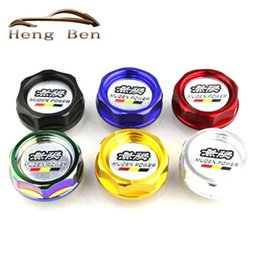Wholesale Oil Tanks Covers - MUGEN Racing Neo Chrome Anodizing Aluminum Oil Tank Cap Cover Forged Billet Oil Cap For Honda