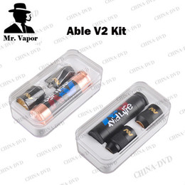 Wholesale Clone Mod E Cig - Able V2.0 Vaporizer Kit with Clone Able Mod AV Torpedo Cap Combo RDA Limited Edition Vs Dry Herb Wax Vape Dab Pen e-cig