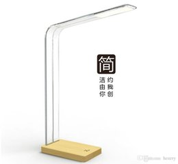 Wholesale Design Dimmer Led - Crystal intelligent touch-sensitive lights Design-Pie original simple wooden LED lamp usb powered desk lamp touch dimmer