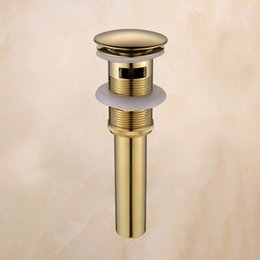 solid brass bathroom bsain faucets accessories push down pop up non overflow overflow gold drains with deodorization type 8 uk