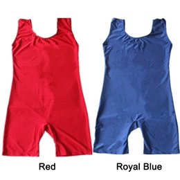 Wholesale Men Lycra Tank - Dance Shorty Unitards Nylon Lycra Tank for Men and Boys Sports Dancing and Gymnastics Full Sizes 21 Colors Available