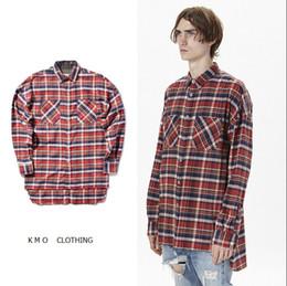 Wholesale Tartan Plaid Dress Shirt - british style fancy mens shirts fashion 2016 spring tartan clothing men clothes casual dress fog plaid cotton flannel shirt