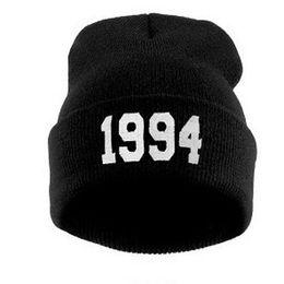 Wholesale 1994 Beanie Hat - 9 Colors Fashion Letter Hats for Women Cap Casual Hat 1994 Knitted Wool Cap Men Male Female Hip Hop Cap Beanies Hat