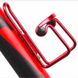 Wholesale Drink Bead - 5 Color Mountain Bicycle Double Beads Aluminum Sports Water Bottle Holder Cage Drinks
