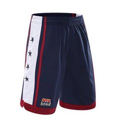 Wholesale Usa Team Basketball Shorts - 2016 New Fashion USA Dream Team Men Basketball Shorts Running Short Fitness Gym Training Short Quick-dry Loose Beach Sport Short