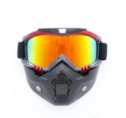 Wholesale Ski Mask Glass - Motorcycle Safety Eyewear Snowboard MaskCycling Full Mask Goggles Outdoor Cycling Sunglasses Skate Ski Glasses Mask