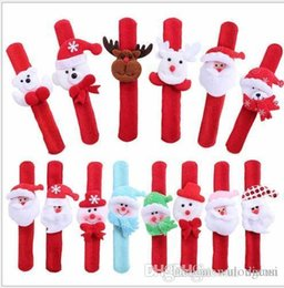 Wholesale Clap Watch - hot sale Christmas Gift Christmas clap circle Christmas snowman applauded the old man bears the deer Wrist watches band