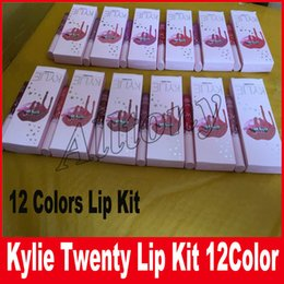 Wholesale Girl Pies - New Kylie Birthday Collection Twenty Lip Kit Kylie Cosmetics by Kylie Jenner Candy Gorg Cherry Pie Angel KoKo August Baby Girl Posie Cupcake