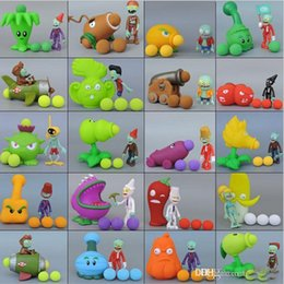 Wholesale Plants Zombies Figures Pvc - 2017 PVZ Plants vs Zombies Peashooter PVC Action Figure Model Toy Gifts Toys For Children High Quality Brinquedos b979