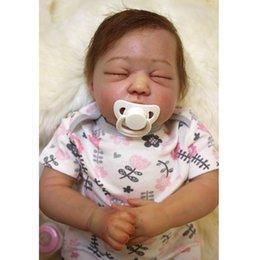 Wholesale Real Doll Materials - 18'' Real Reborn Babies Sleeping Bonecas KID's Toys,Vinyl Material Lifelike Baby Reborn Dolls Newborn Toys for Children