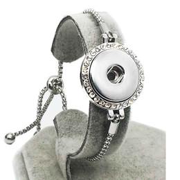Wholesale 14k Gold Snake Bracelet - high quality stretchable Rhinestones 038 Snap Button Bracelet Interchangeable Charm Jewelry For Women Men(Fit 18mm snaps )