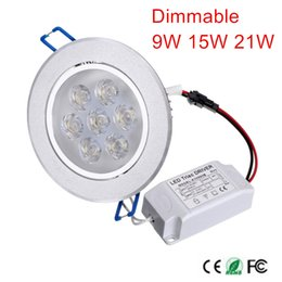 Wholesale Wholesale For Kitchen Items - Wholesale- 2pcs LED Downlight Dimmable CREE 9W 15W 21W items White shell lights for home Bathroom living room kitchen lighting