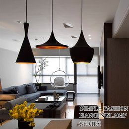 Wholesale Dixon Pendant Lamp - Tom Dixon (Tall, Fat , Wide) Pendant Lamp Creative DIY Aluminum Pendant Lights Black White Restaurant Bar Chandeliers Light Lights