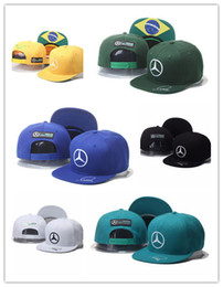 Wholesale Cowboy Hat Fit - New high Quality cap Lewis Hamiltons Signature Edition snapback hat F1 Champion Racing sports Baseball chapeau Automobile