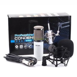 Wholesale Metal Records - Professional BM-800 BM800 Condenser KTV Microphone Cardioid Pro Audio Studio Vocal Recording Mic KTV Karaoke+ Metal Shock Mount
