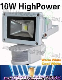 Wholesale Lighting Lamp Shell - 10W 20W 30W LED PIR Grey shell Passive Infrared Motion Sensor Flood light Or Human sensor light for Indoor Outdoor Security lamp LLFA
