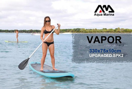 Wholesale Stand Up Paddling - 330*75*10cm AQUA MARINA 11 feet VAPOR inflatable surfboard stand up paddle board inflatable surf board sup paddle boat