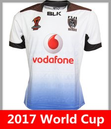 Wholesale National Green - Hot sales 2017 World Cup Jersey FIJI rugby shirt 17 18 fiji rugby Jerseys NRL National Rugby League BATI shirts s-3xl