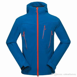 Wholesale Mens Outdoor Suit Coats - New High Quality Winter Fleece SoftShell Ski Jackets Outdoor Brand Mens Windbreaker Down Coats Hunting Hoodies Bomber Brand Mans Suits S-XXL