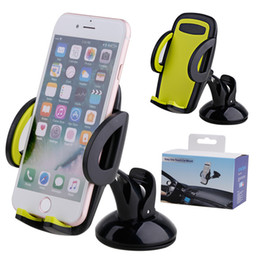Wholesale One Touch Retail - 2017 Hot Sale H1 Easy One Touch Strong Car Phone Mount Holder Bracket Stand For iphone 5 6 6S 7 8 Plus Samsung Galaxy Note 8 With Retail Box