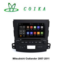 Wholesale Mitsubishi Outlander Gps Navigation - 8 HD Screen Android 5.1 Two Din Car DVD For Mitsubishi Outlander 2007-2011 Head Unit GPS Navigation WIFI 3G OBD DVR 1024*600 Resolution BT