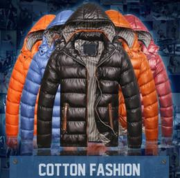 Wholesale Men S Winter Down Parka - New Men's Winter Warm Hooded Padded Coat Cotton Coat Zip Thick Down Jacket Parka