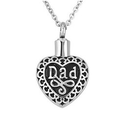 Wholesale Cremation Jewelry Necklace Mom - Dad Mom Letter Heart Pendant Necklace for Stainless Steel Cremation Jewelry Classical Lovers Heart Necklace