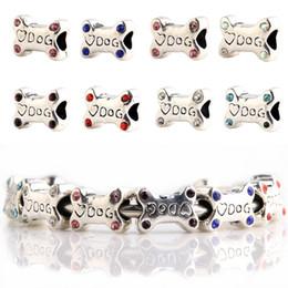 2019 silbernes pandora hundearmband Großhandel Metallperlen DOG Bone Stile niedlichen Silber Charms für Pandora Armbänder günstig silbernes pandora hundearmband