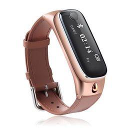 Auricolari Bluetooth 4.0 bracciali fitness smart band smartbands wristbands fitness tracker smartwatch 2 in 1 per Android iOS da massaggi sportivi corpo fornitori