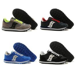 Wholesale Black Boots Low Heel - Fashion Boots Saucony Original Shoes Jazz Men's Originals Jess Men Low pro breathable Shoes Sale Size EU40-44