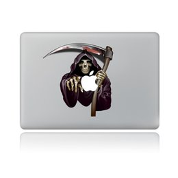 Wholesale Vinyl Sticker Macbook - Halloween The King of Terrors Skeleton Notebook Decoration Sticker Vinyl Decal For Macbook Party Home Supplies