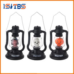 Wholesale Witch Lantern - LED Colorful Hallowmas Lantern Lamp Portable Hanging Night Light Pumpkin Witch Ghost Skull Light Halloween Gift