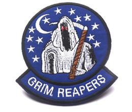 Correctifs 3D de haute qualité 4 * 3,3 pouces THE 100 Grim Reapers patch brodé avec badge magique pour brassard GPS ? partir de fabricateur