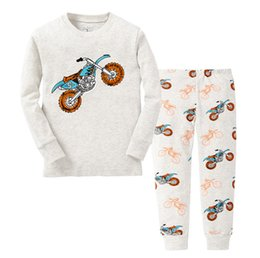 Wholesale Toddler Pijamas - winter&autumn toddler boy underwear pajamas set cotton boys pyjamas long sleeve pijamas suit kids Sleepwear pyjama enfant