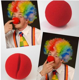 Wholesale Fun Halloween Costumes - 5cm Red Nose Foam Circus Clown Party Fun Nose Comic Party Supplies Halloween Accessories Costume Magic Dress Party Supplies