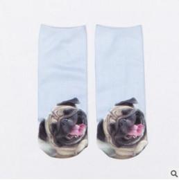 Wholesale Cool 3d Socks - Wholesale-high quality 1 Pair Unisex Fashion Cool Vivid 3D Printed Patterns Cotton Anklet Socks Hosiery 6X9J