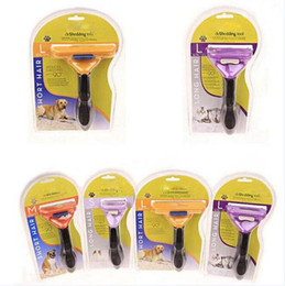 Wholesale Dog Brush Removal - 2017 New Design Professional Pet Grooming sheddingTool Rake Dog and cat Removal Comb Brush pet Product XS S M L XL