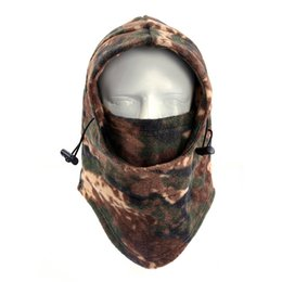 Wholesale Face Mask Winter Running - Wholesale- Protective mask face shield Winter Warm Neck Mask Ski Cycling Football Outdoor Sport Mask for running respirator P30