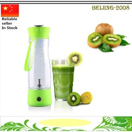 Wholesale Stainless Steel Juice Extractor - Hand Portable Electric Fruit Juice Mixer Cup Battery Automatic Milkshake Juicer Mixer Bottle 1 Piece 350ml 010267