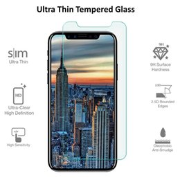 Wholesale Hd Mirror Screen Protector - For iPhone X Premium Real Tempered Glass 2.5D Screen Protector Clear 9H HD Film Protective