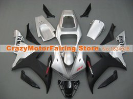 Wholesale Yamaha R1 Fairings - 3 Free Gifts New motorcycle Fairings Kits For YAMAHA YZF-R1 2002 2003 r1 02 03 YZF1000 bodywork hot sales silver black color